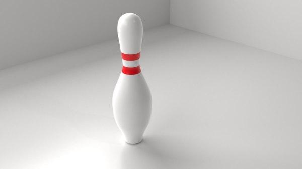 bowling pin 3D model