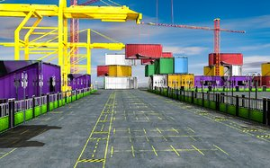 seaport sea port 3D