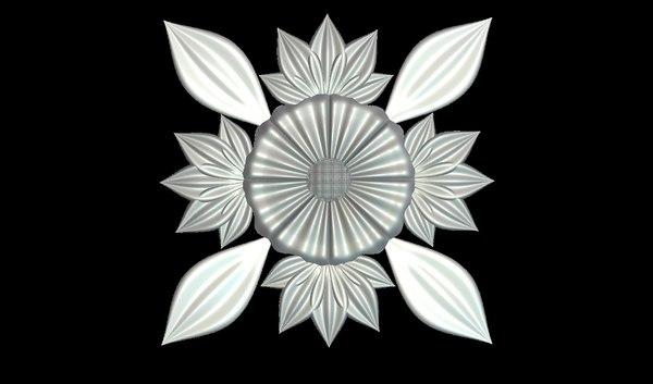 floral cnc printing 3D model