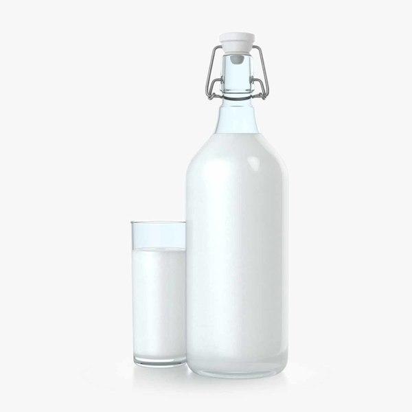 3D milk bottle
