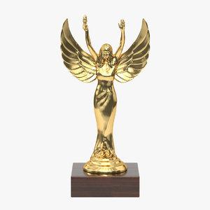 realistic trophy cup 14 3D model