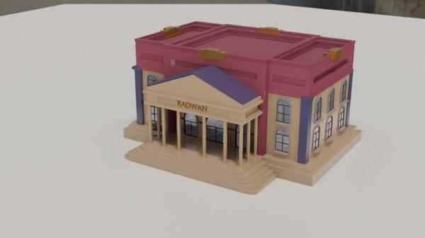 bank blender 3D model