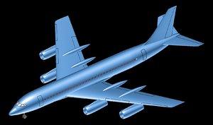 convair 990 transport aircraft 3D