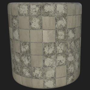 Damaged tile