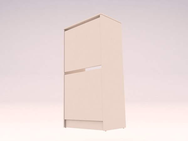 shoe cabinet 2 compartments 3D model