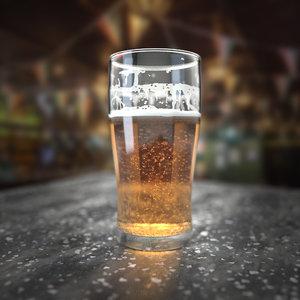 3D blender beer glass