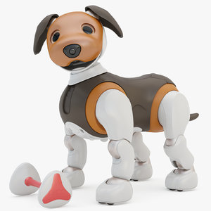 rigging sony aibo choco 3D model