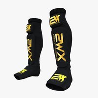 shin guard leg foot 3D