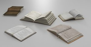 described open books 3D model