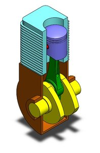 3D model piston mechanism