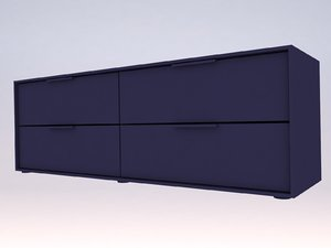 ikea nordmela chest 4 3D