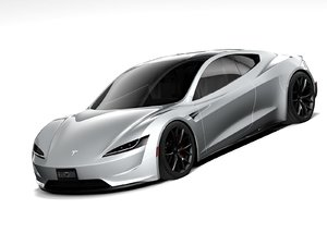 tesla roadster 2021 3D model