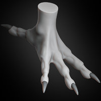 dragon claw concept creature 3D model
