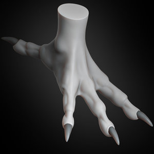 dragon claw concept creature 3D model
