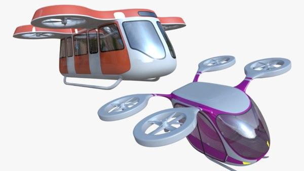 generic passenger drones 3D