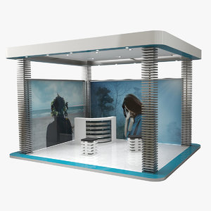 3D model exhibition expo stand