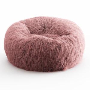 wool himalayan faux-fur beanbag model