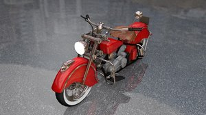 3D indian chief 348 motorcycle