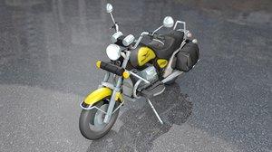 guzzi antique motorcycle 1100 3D model