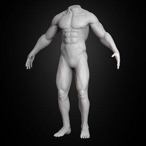 3D human muscular body 2019