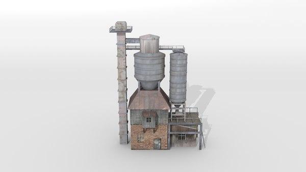 3D old concrete mixing plant
