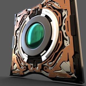 3D camera lens model