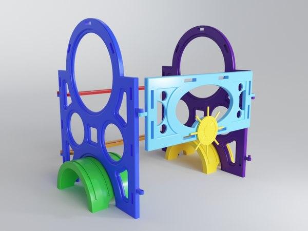 3D children tunnel playground model