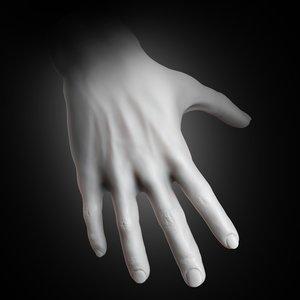 human muscular hand 2019 3D