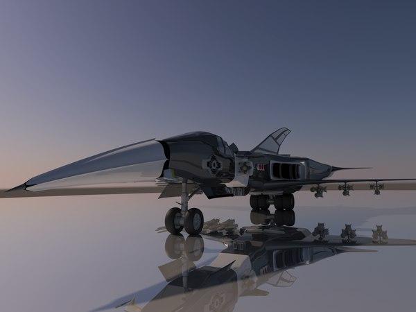 3D sci-fi airfighter model