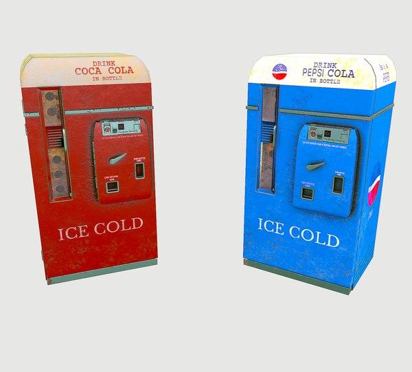 3D cola pepsi vending machine model