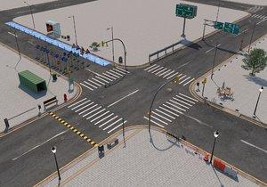 road signage street 3D