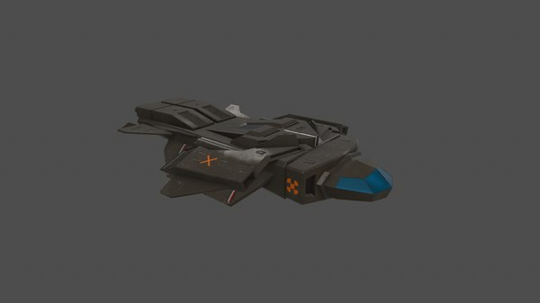 3D spaceship spacecraft