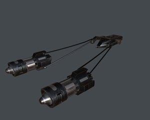 3D model spaceship spacecraft