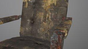 3D apocalyptic chair modern