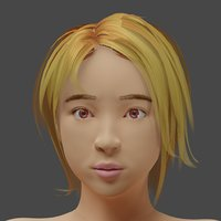 3D model japanese actress