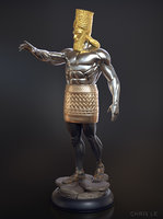 3D daniel 2 statue king model