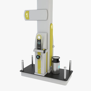 modern electric charging station 3D model