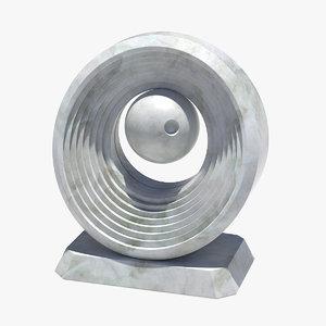 3D modern sculpture model
