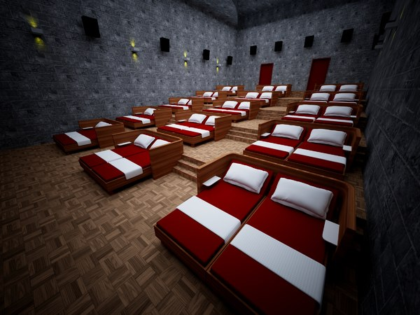 3D model hall stage cine theater