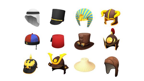 hats helmet cap model