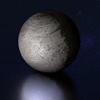 3D moon earth planets model