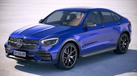 3D mercedes-benz glc coupe model