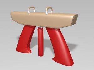 gymnastics pommel horse 3D