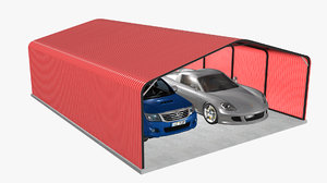 3D outdoor carport