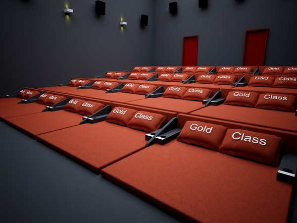 hall stage cine theater 3D model