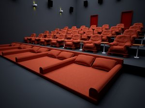 3D hall stage cine theater