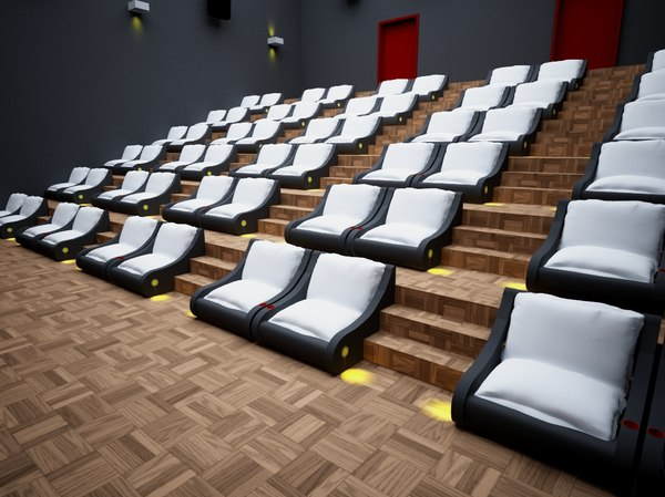 3D hall stage cine theater model