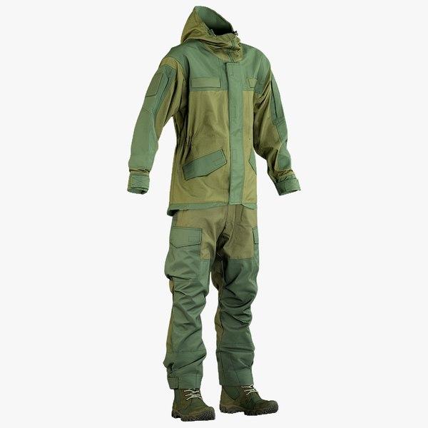 3D realistic hunting uniform boots model