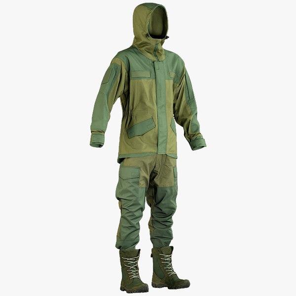 3D realistic hunting uniform hood