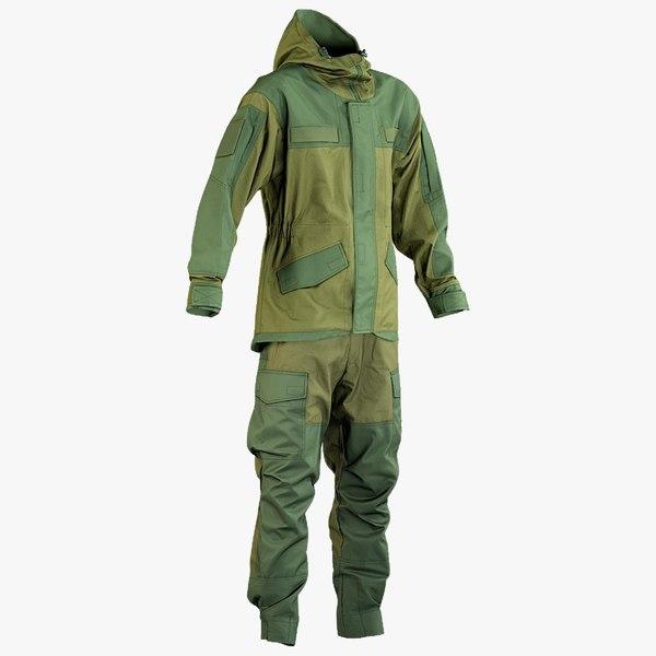 3D model realistic hunting uniform 2